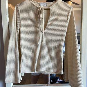 Flare long sleeve date night shirt